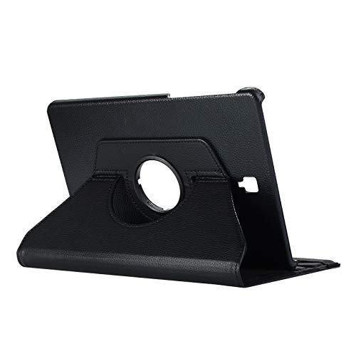 Lobwerk Hülle für Samsung Galaxy Tab S4 SM-T830 T835 10.5 Zoll Schutzhülle Smart Cover 360° Drehbar Schwarz