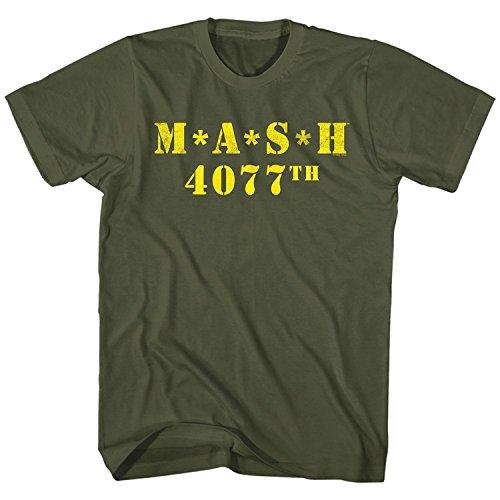 Mash Logo 4077th Military Green T-shirt Tee X-Large
