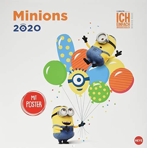 Minions Broschur. Wandkalender 2020. Monatskalendarium. geheftet. Format 29,5 x 30 cm