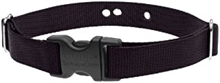 """LupinePet Basics 1"""" Black 16-24"""" Containment Collar Strap for Medium and Larger Dogs"""