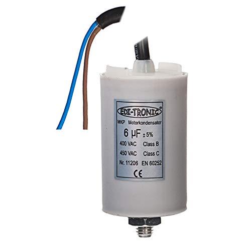 Kondensator Anlaufkondensator Motorkondensator Arbeitskondensator Kabel 6µF 450V