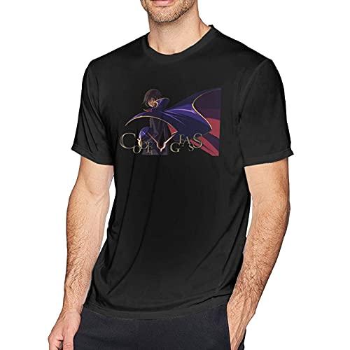 XCNGG Camiseta de manga corta Code Geass para hombre Negro XXXL