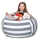 WEKAPO Stuffed Animal Storage Bean Bag Chair Cover for Kids |...