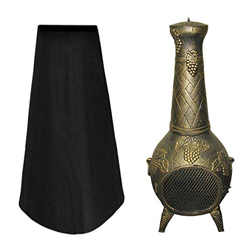 Alnn Large Patio Heater Chiminea Cover Heavy Duty Waterproof Garden Prevent Rain Sun UV Protector Outdoor for Home Garden Outdoor Funiture Covers