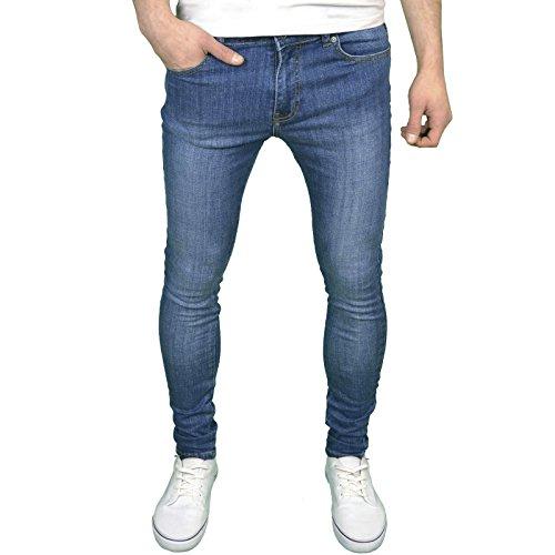 Enzo para Hombre Funda de Super Stretch Skinny Fit Jeans