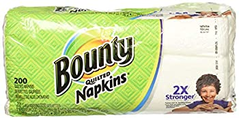 Bounty Paper Napkins White or Printed 200 Count Pack of 2