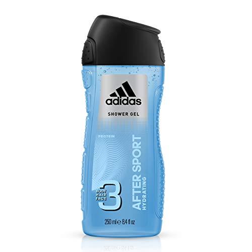 Adidas After Sport 3 in 1 Duschgel für Herren, 250 ml, 2 Stück