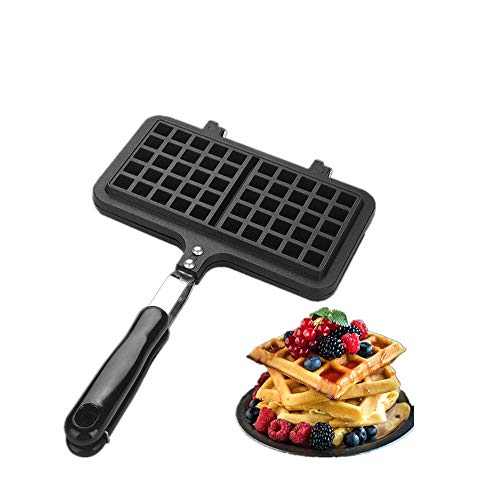 Wafelijzer Pan, Dual Head Huishoudelijke Keuken Gas Non-Stick Wafelijzer Pan Mold Mould Press Plate Baking Tool