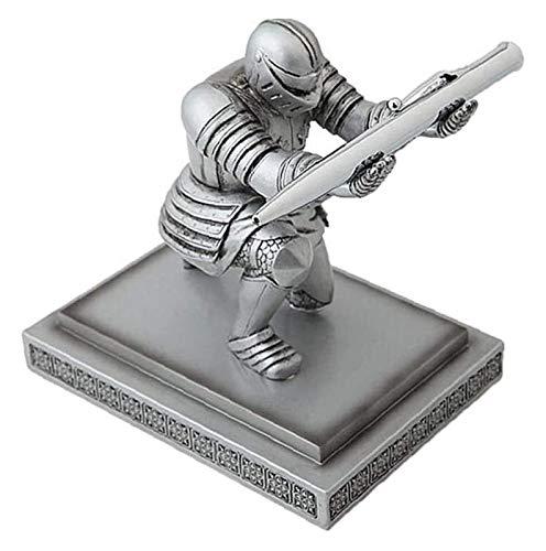 WQQLQX Statue Executive Ritter Skulptur Statue Stift Halter Stift Halter Schreibtisch Schreibtisch Dekoration Stifthalter Container Aufbewahrungsbox Kreatives Geschenk Skulpturen