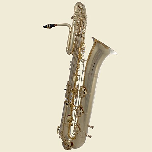 Tuyama® Bass-Saxophon in B (mit Hoch-Fis-Klappe) Bb Sib Sibemol Basssaxophon Saxophone Basse Basso goldlackiert lackiert messing goldmessing