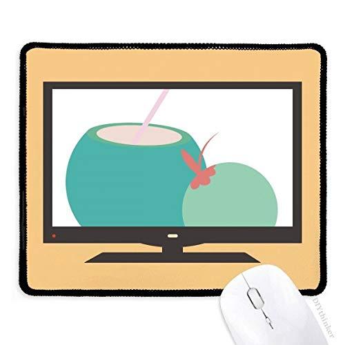 Thailand Kokosnuss Saft Art Illustration Computer Maus Pad Rutschfeste Gummi Mauspad Spiel Büro