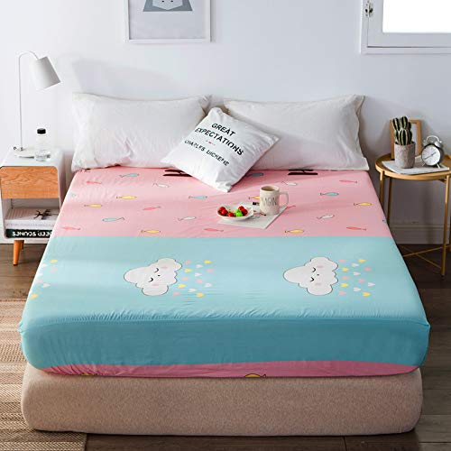 NTtie Non-Iron Bedding Fitted Sheet with All Around Elastics Brushed Microfiber Breathable One piece cotton sheet dustproof bed cover