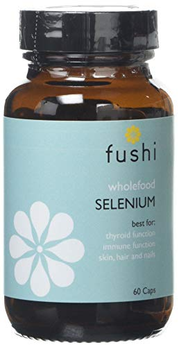 Fushi Selenium Whole Food Capsules, 60 Caps | Best for Thyroid Function, Immune Function, Hair, Skin & Nails | Plant Based Formula, Organically Fermented Selenium Yeast | Vegan, Ethical,Made in the UK