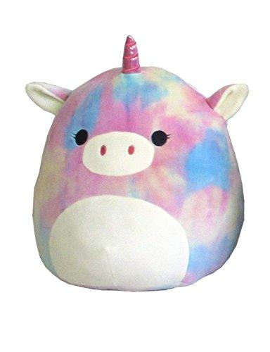 "Squishmallow Kellytoy 8"" Rainbow Tie Dye Unicorn Super Soft Plush..."