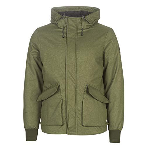 Scotch & Soda Herren Short Hooded Jacket with Inside Quilting Jacke, Grün (Army Melange 0679), X-Large (Herstellergröße: XL)