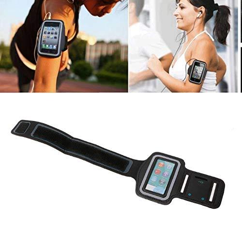 N\C Soporte para teléfono móvil para Correr para Apple iPod Touch Nano Mp3 Mp4 Brazalete Deportivo Funda Protectora de Cuero Bolsa para Correr