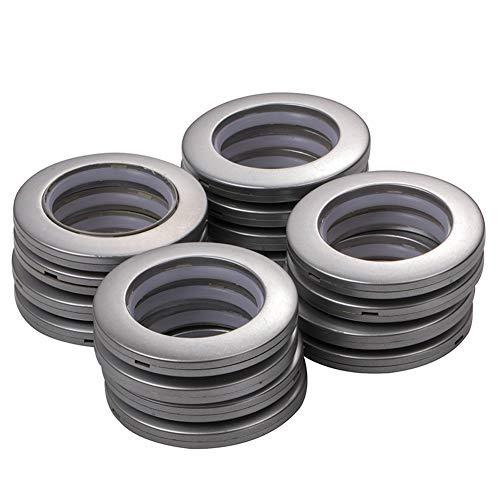 INCREWAY Anillos de Cortina con Ojales, 16 Piezas 4mm diámetro Interno ABS Plastic Redondos presión Conjunto de Ojales Apto para Cortinas y Bricolaje