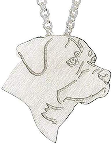 POIUIUYH Co.,ltd Collar clásico para Hombres y Mujeres, Collar con dijes, joyería, Collar de Cadena de Perro a la Moda, Collar con Colgante para Mascotas, Regalo conmemorativo