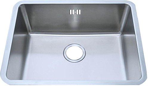 Cucina Lavello rettangolare da incasso Lavello in acciaio inox spazzolato. 581X 454mm (A02BS)