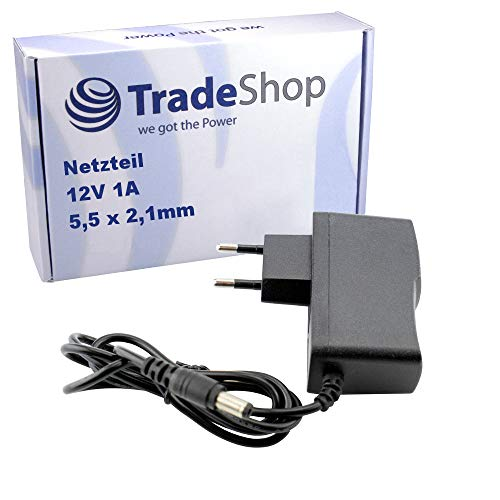 Trade-Shop 12V 1A Netzteil universal Stromadapter ersetzt DSA-12G-12 FEU 120120 ADS0128-B 120100 für TechnoTrend Receiver Yamaha Keyboard