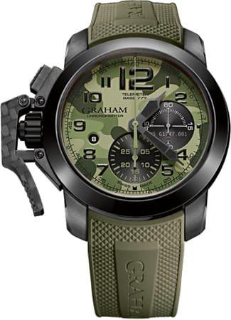 Graham Chronofighter 2CCAU.G02B - Reloj Suizo para Hombre, diseño de Flecha Negra, Color Verde