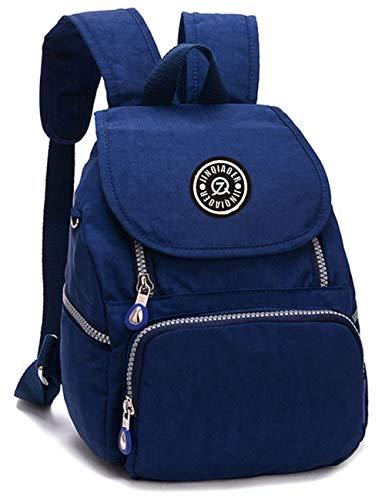 Estwel Damen Mädchen Rucksack Kleine Reise Daypack Freizeitrucksack Elegant Damenrucksack Wasserdicht Nylon Reiserucksack(Dunkelblau)