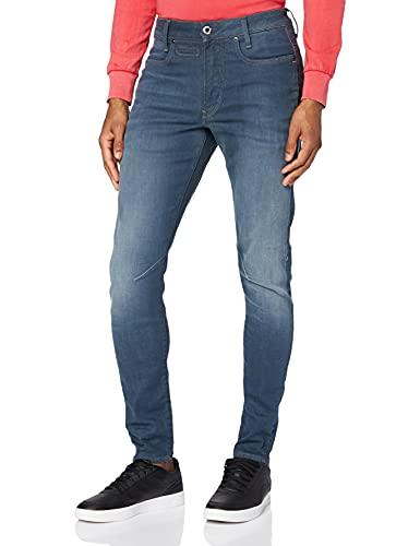 G-STAR RAW D-STAQ 3D Slim Jeans Vaqueros, Worn in Gravel Blue C431-b844, 30W / 32L para Hombre