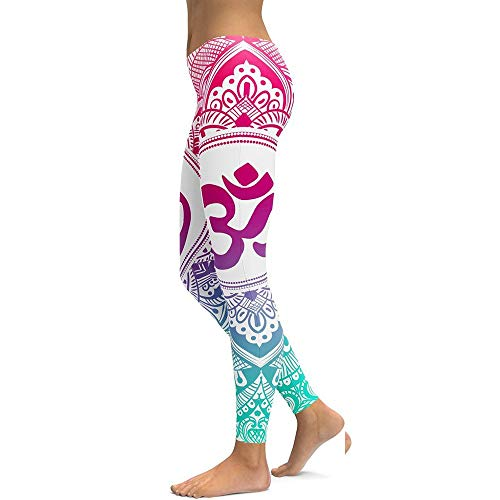 FANGNVREN Yoga Hose,Frauen Mandala Gedruckt Hohe Taille Yoga Hosen Professional Fitness Gym Sport Stretch Leggings Enge Hose Bleistift Leggin Strumpfhosen Hose, Photo Color, M