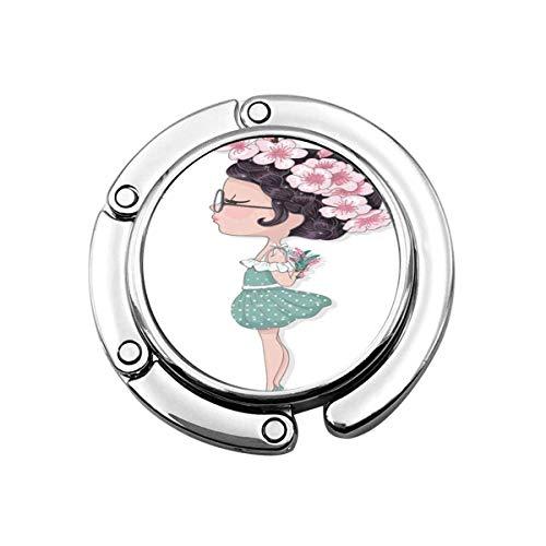 Perchero Monedero Plegable Lindo Gancho Monedero Niña Linda Flores Dibujos Animados Niños Etiqueta Princesa Primavera