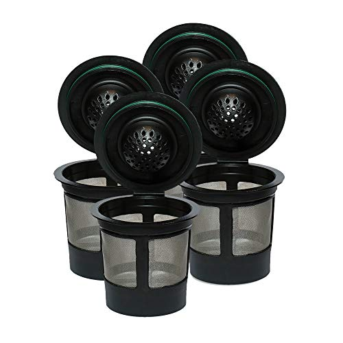 Reusable K Cups For Keurig 2.0 & 1.0 Brewers Universal Fit For Easy To Use Refillable Single Cup...