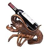 Wine Cup Holder, Support for Resin Lobster Bottle Rack for Wine, Support Sculpture for Funny Wine Bottle, Wine False Ceiling