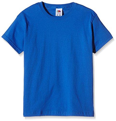 Fruit of the Loom SS132B, Camiseta para Niños, Azul (Royal Blue), 7-8 años (Talla del fabricante 128)