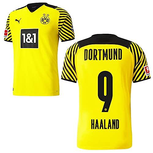 PUMA Borussia Dortmund BVB Heimtrikot 2021 2022 Home Trikot Sponsor BL Logo Herren Erling Haaland 9 Gr M