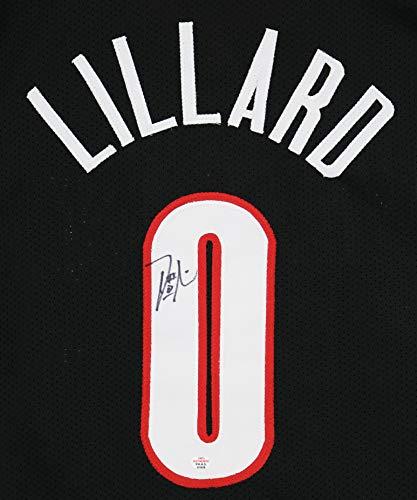 Damian Lillard Portland Trail Blazers Signed Autographed Black #0 Custom Jersey PAAS COA