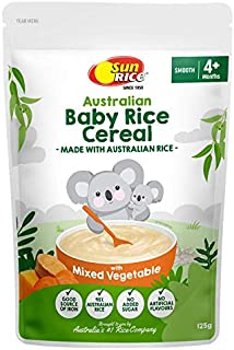 Sun Rice Australiam Baby Rice Cereal Mixed Vegetable 125g, 125 g