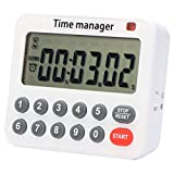 BRAPILOT Digital Countdown Kitchen Timer- Cooking Timer 99H 59M 59S, Count Up,Sound/Silence Adjustable,Support & Magnetic, Auto-Off, Memory for Cooking Baking Sports Games Office...