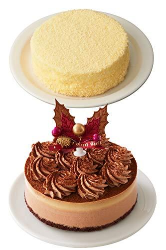 LeTAO ( ルタオ ) 選べる クリスマスケーキ セット~レンヌショコラ~ (レンヌショコラ+ドゥーブルフロマージュ)