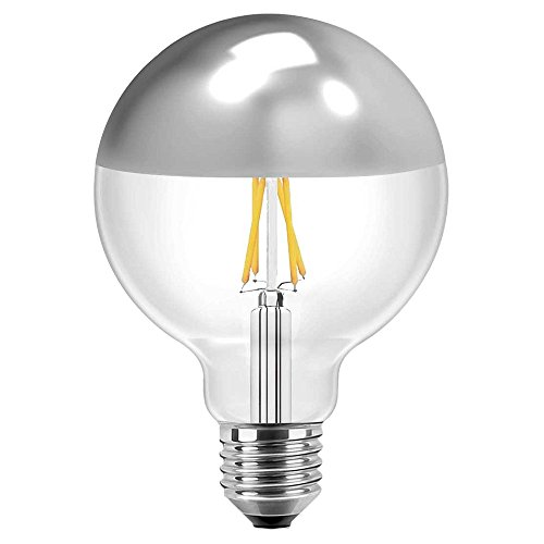 LED Filament Vintage Globelampe 125mm 8 Watt warmweiß E27