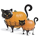 "Plow & Hearth 87678-CAT Halloween Decoration, 14"" x 10"" x 9"", Black"