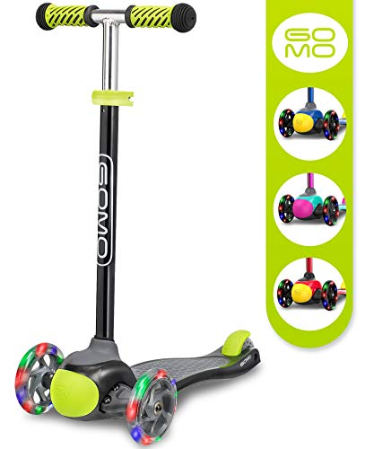 GOMO Kids Scooter 25 Years Old Adjustable Height Kick Scooter 3 Wheel Toddler Scooters W/Colors for Boys and Girls