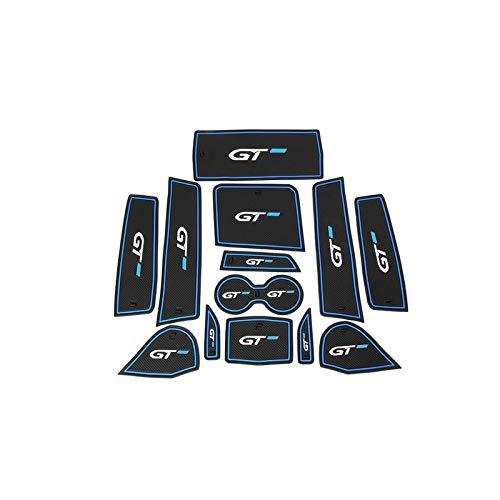 HIGH FLYING - Para 3008/GT 5008/GT 2017 2018 2019 Azul Alfombrilla antideslizante para puerta interior 13 piezas