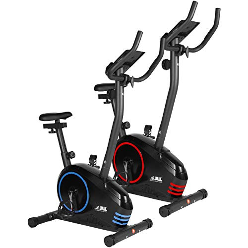 JLL® Home Premium Exercise Bike JF150, 2017 new version Magnetic resistance exercise bike fitness Cardio workout with adjustable resistance, 5KG two ways fly wheel, console display with tablet holder, heart rate sensor,