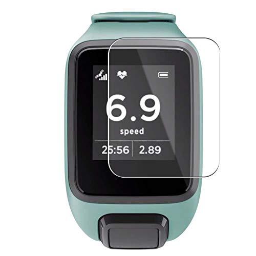 Vaxson Protector de Pantalla, compatible con TomTom Spark 3/Spark 3 Cardio Smartwatch Hybrid Watch, 3 Unidades TPU Film Screen Protector [ No Vidrio Templado ]