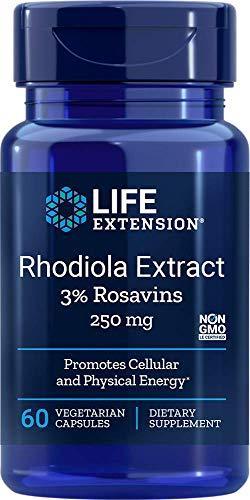 Life Extension Rhodiola Extract (3% Rosavins) 250 Mg, 60 Vegetarian Capsules