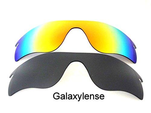 Galaxylense mannen vervangende lenzen voor Oakley Radarlock pad zwart & rood gepolariseerd,2 paar