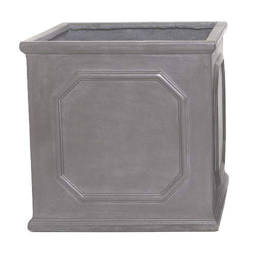 Round Wood 38cm Clayfibre Faux Lead Chelsea Box Planter/Plant Pot/Container/Garden Feature/Gift