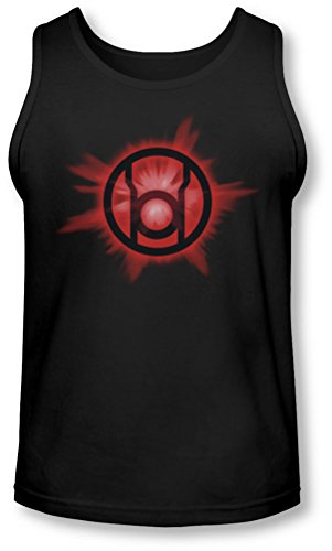 Green Lantern - - Red Glow Tank-Top pour hommes, Small, Black