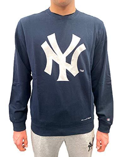 Champion - Sudadera con cuello redondo para hombre New York Yankees, MLB, 214656 turquesa L