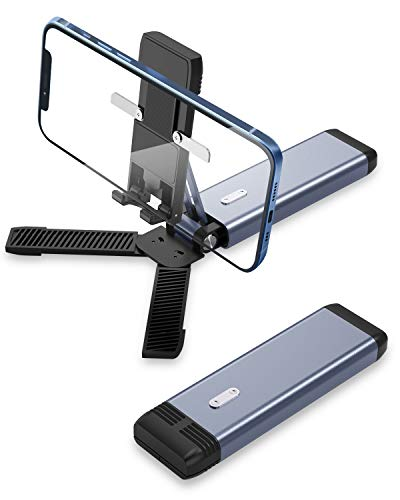 Cell Phone Stand,Angle Height Adjustable Stowable Phone Stand Desk,Compatible with All Mobile Phones,iPhone,Switch,iPad,Tablet(4-10in)