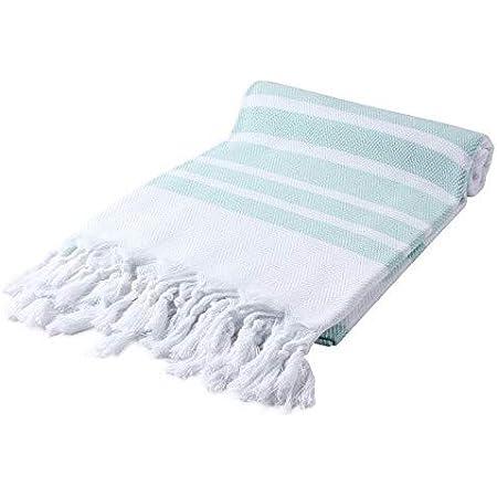 Cacala Pestemal Turkish Towels 37x70 100% Cotton Aquamarine